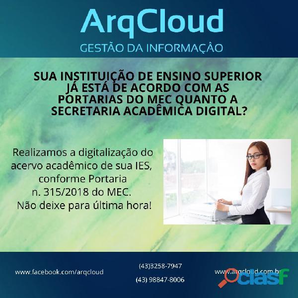 Digitalização de documentos em ies   instituições de ensino superior em londrina pr e região.