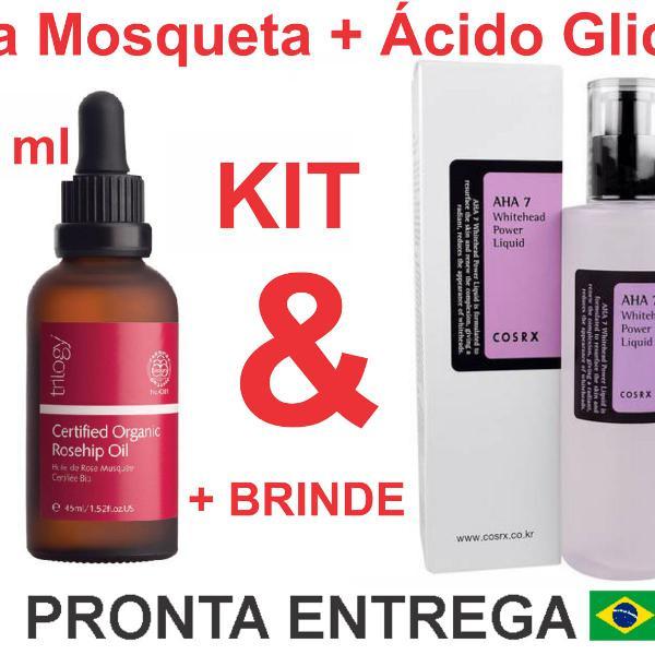 Kit trilogy rosa mosqueta e cosrx ácido glicólico + brinde