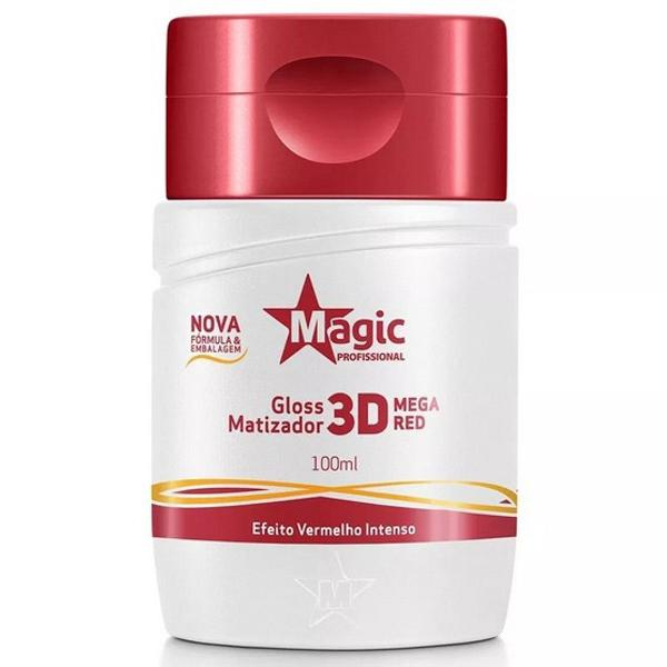 Magic color gloss matizador 3d mega red
