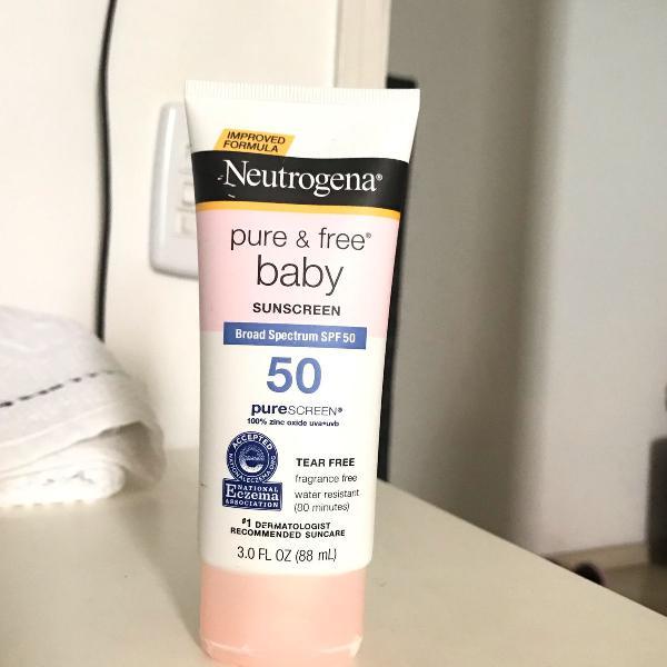 Protetor para bebe neutrogena