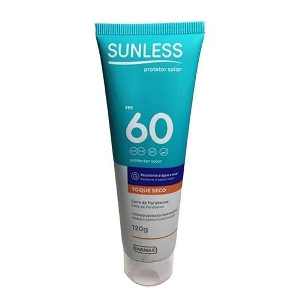Protetor solar sunless - toque seco fps 60 - 120g