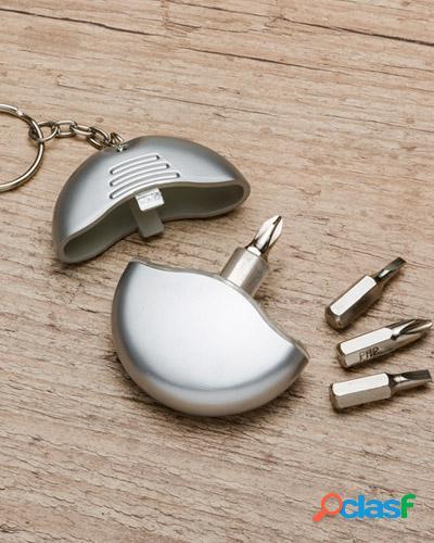 chaveiro com kit de ferramenta personalizado 4 peças