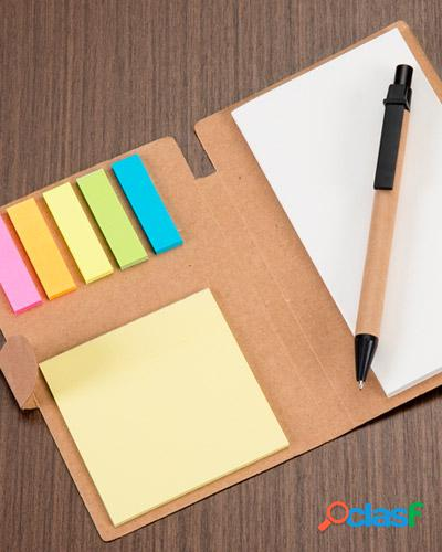 Bloco personalizados post-it + caneta
