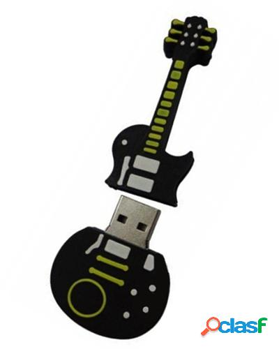 Pen drive emborrachado guitarra 2d