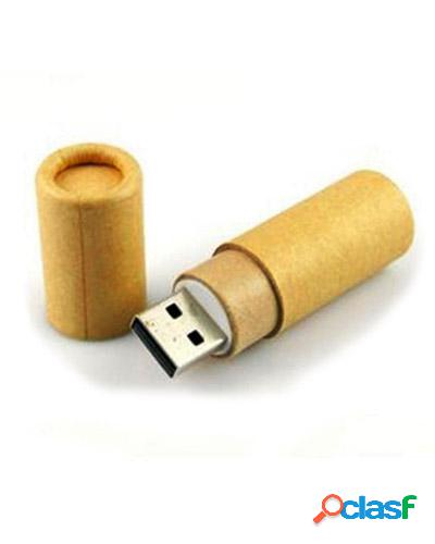 Pen drive tubo de papel personalizado