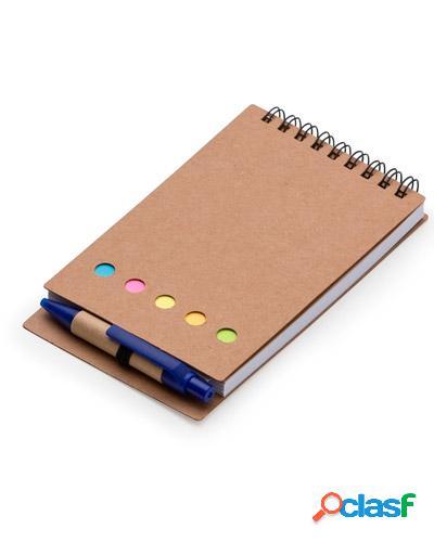 Bloco de anotações com post it e caneta