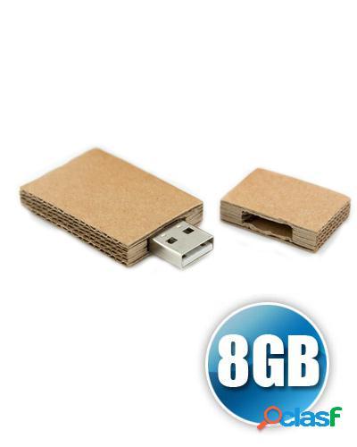 Pen drive 8gb papel recilado personalizado