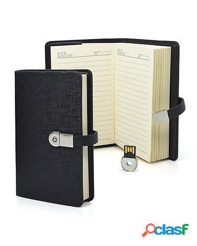 Mini agenda personalizada com pen drive