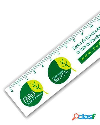 Regua de pvc personalizada para brindes