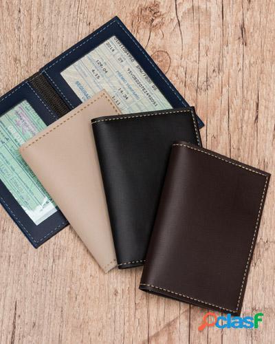 Porta documentos em couro personalizado