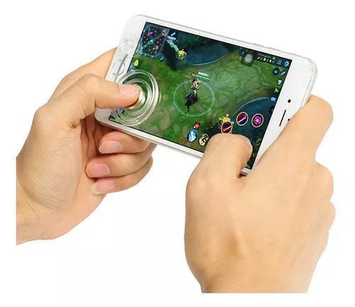 2 pcs clear móvel tela de toque jogo joystick controlador
