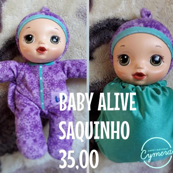 Baby alive saquinho