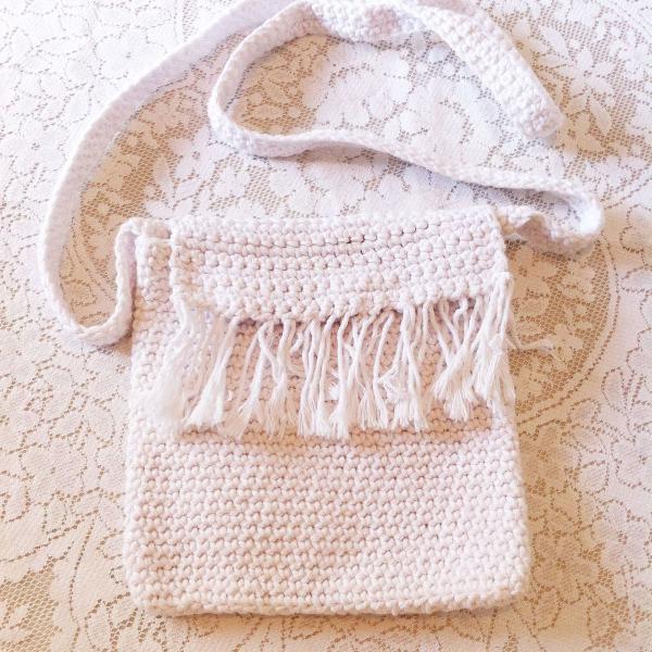 Bolsa de franjas handmade