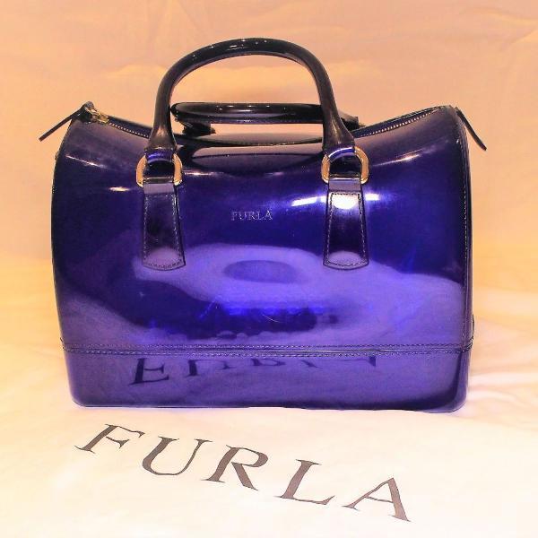 Bolsa azul furla® candy bag maleta com alças