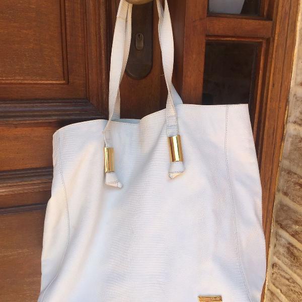 Bolsa branca couro