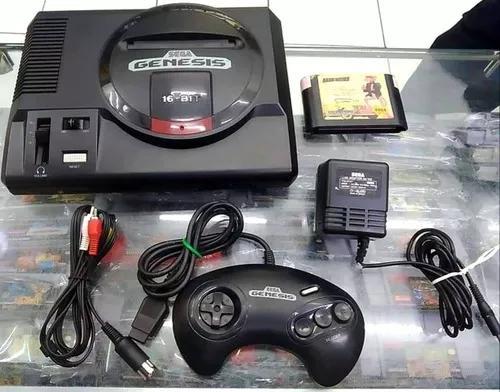 Console sega genesis controle fonte e game originais
