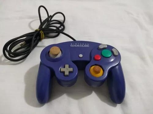 Controle game cube azul índigo original
