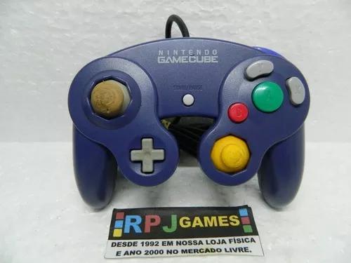 Controle indigo original nintendo p/ game cube - loja rj