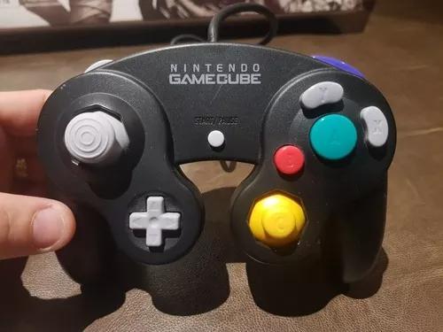 Controle nintendo gamecube original preto excelente
