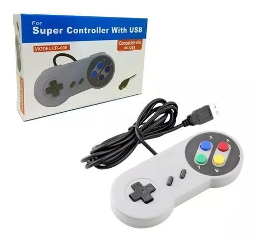 Controle nintendo usb joystick super snes jogos pc