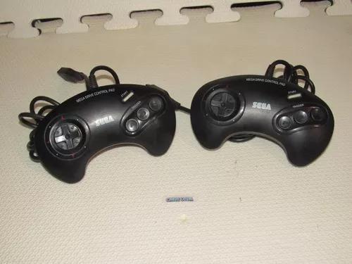 Controle original 3 botões mega drive tec toy a b c pretos