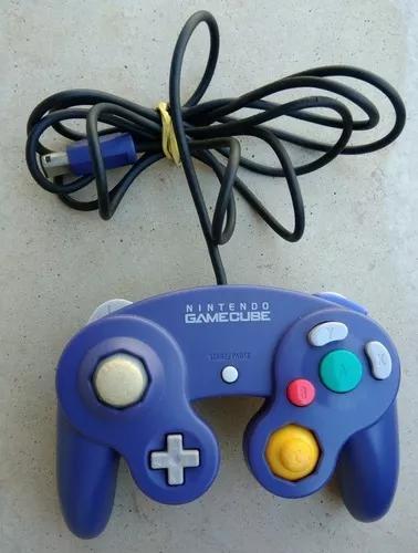 Controle original azul índigo game cube nintendo