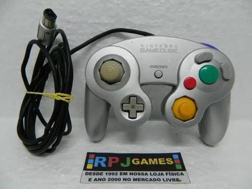 Controle prata original nintendo p/ game cube - loja rj
