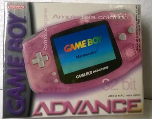 Game boy advance lacrado fucsia rosa gradiente novo raro