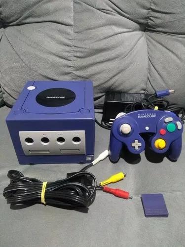 Game cube azul índigo com caixa