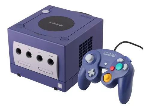 Game cube + controle + cabos + 3 jogos