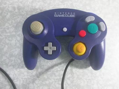 Game cube - controle original indigo - ótimo estado