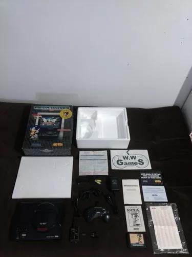 Mega drive 2 edição sonic na caixa com nota fiscal de 1992