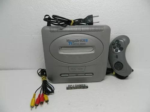 Mega drive 3 c/ 60 jogos pronto p/ jogar - loja centro rj