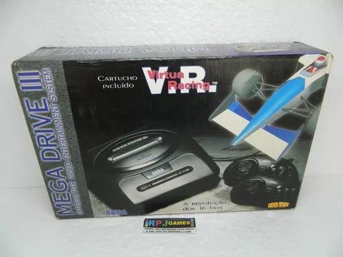 Mega drive 3 edição virtua racing c/ caixa e manual - loja