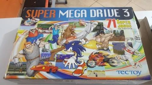 Mega drive 3 original com 71 jogos sonic, shinobi golden axe