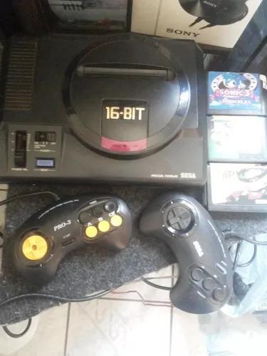 Mega drive japones impecavel com jogos e controles originais
