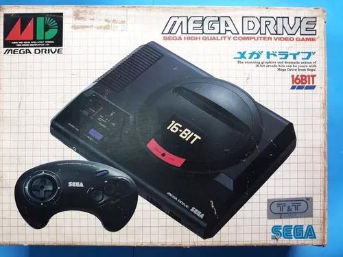 Mega drive/sega/japones original super conservado + 3 jogos