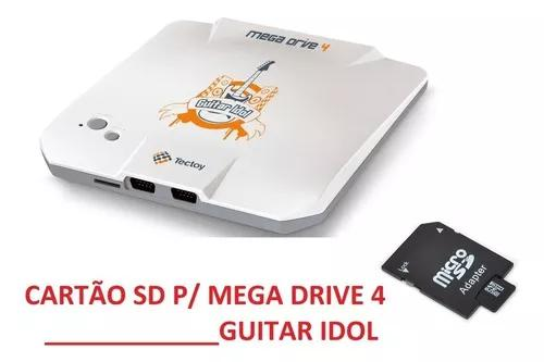 Sdcard 2gb p/ mega drive 4 guitar idol +1500 brindes! +4in1