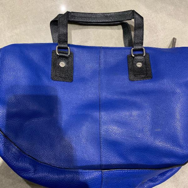 Bolsa azul royal em couro uncle k