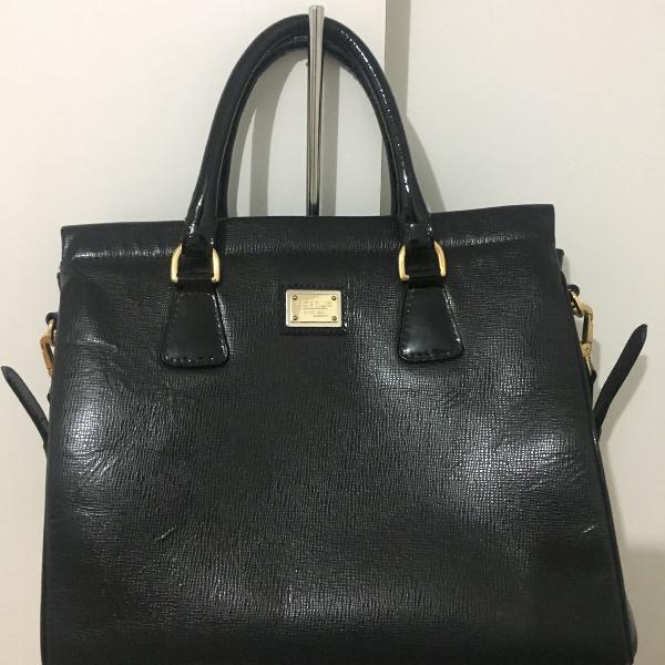 Bolsa corello de couro preto