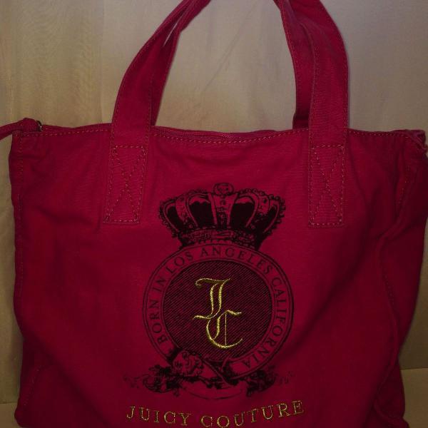 Bolsa de lona pink juicy couture