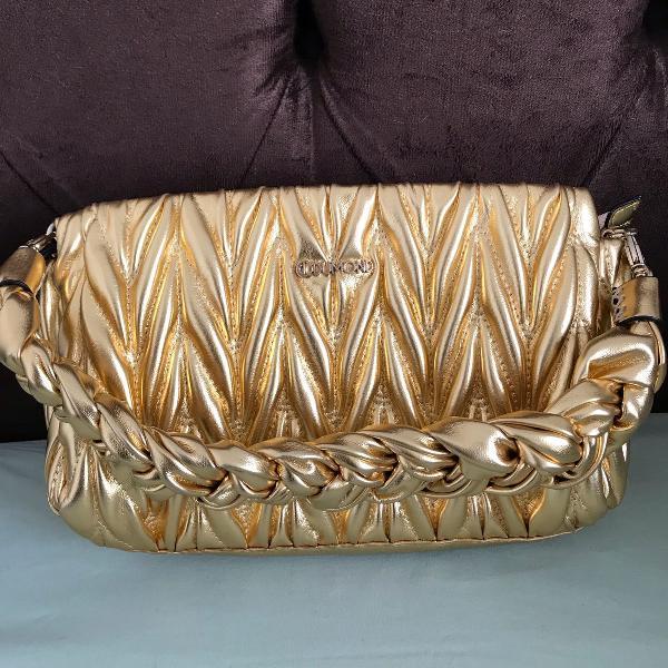 Bolsa dourada dumond original