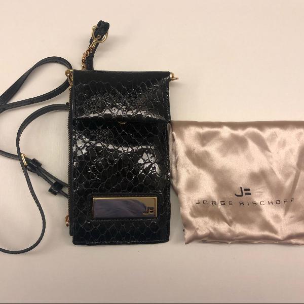 Bolsa jorge bichoff porta celular e carteira