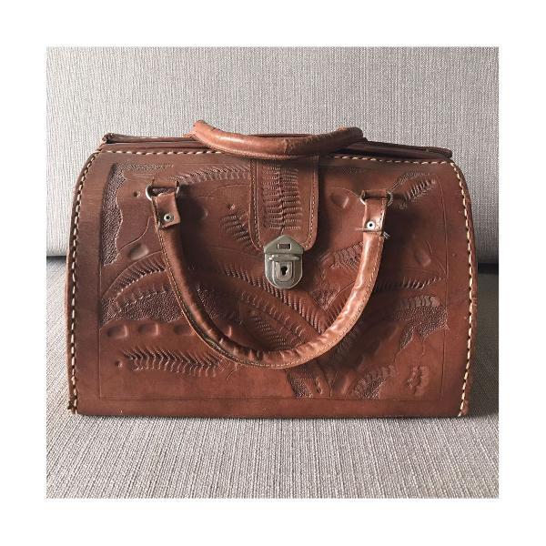 Bolsa mão dr. bag couro vintage