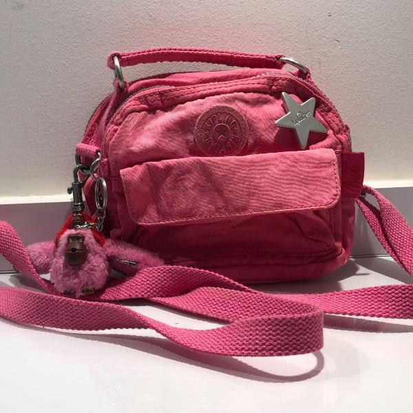 Bolsa pequena, kipling, modelo basic baby, rosa
