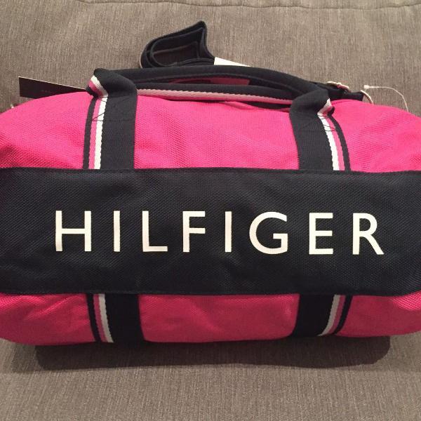 Bolsa tommy hilfiger pink de ombro e mão