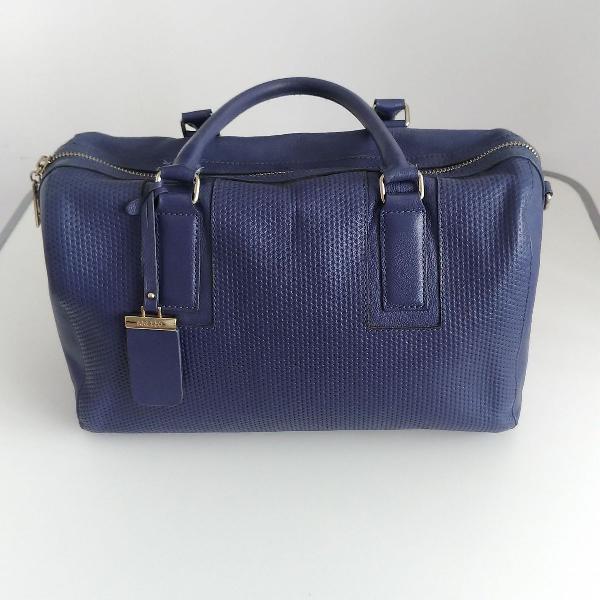 Bolsa tote couro azul marinho arezzo