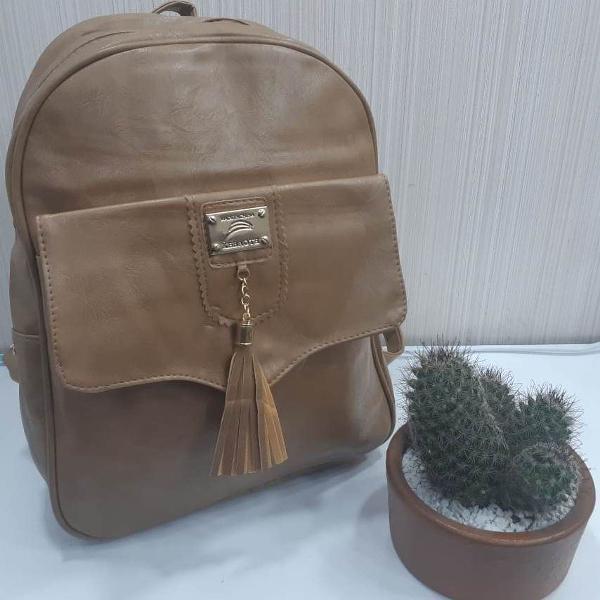 Mochilinha bolsa feminina de couro pu de costa barata