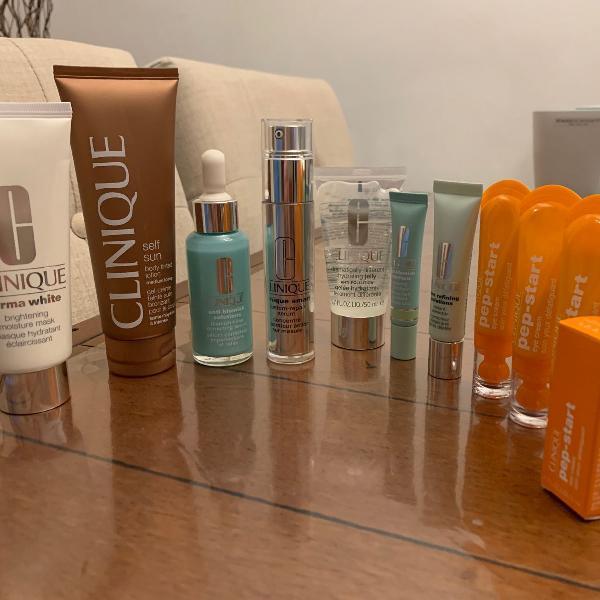 Usados lote 10 produtos cosméticos clinique aproveite