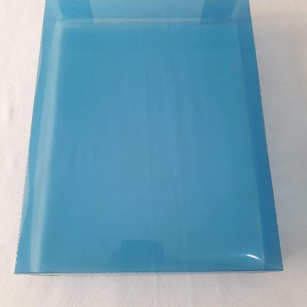 100 caixas p/ presente acetato azul transparente - 14x20x4